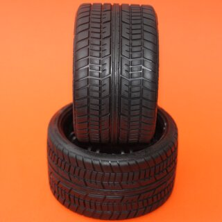 SRC Road Crusher Onroad Belted tire Black 1/4 Offset.